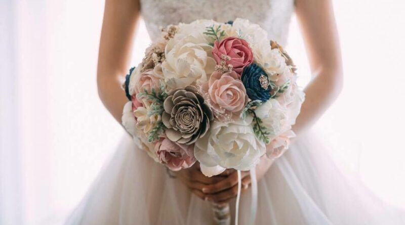 sola wood flowers for wedding