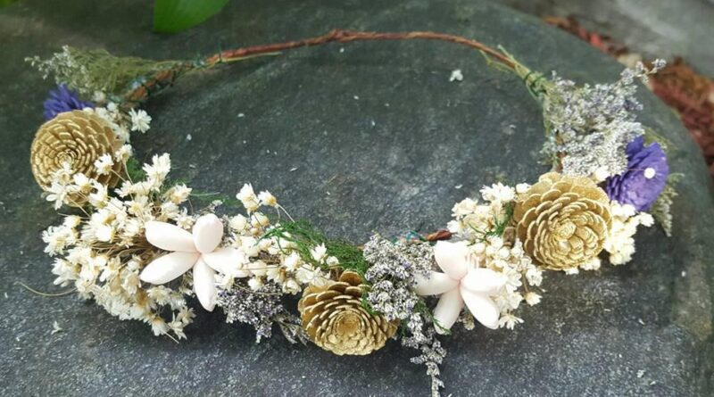 Sola Wood Flower Crown for Bride